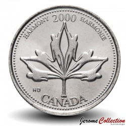 CANADA - PIECE de 25 CENTS - Série Millénium - Harmonie - 2000 Km#377