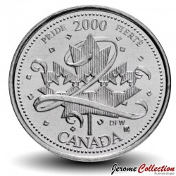 CANADA - PIECE de 25 CENTS - Série Millénium - Fierté - 2000 Km#384.2