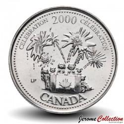 CANADA - PIECE de 25 CENTS - Série Millénium - Célébration - 2000 Km#383