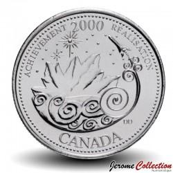 CANADA - PIECE de 25 CENTS - Série Millénium - Célébration - 2000 Km#381