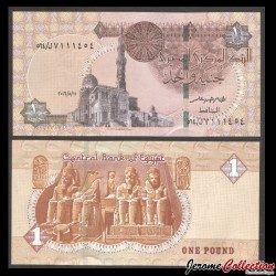 EGYPTE - Billet de 1 Pound - Temple de Louxor - 11/05/2016