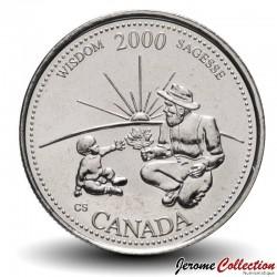CANADA - PIECE de 25 CENTS - Série Millénium - Sagesse - 2000 Km#378