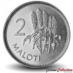 LESOTHO - PIECE de 2 Maloti - Tiges de maïs  - 2010
