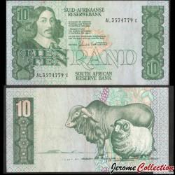 AFRIQUE DU SUD - Billet de 10 Rand - Taureau, bélier - 1985 P120d