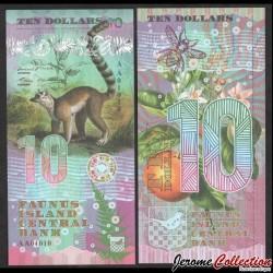 FAUNUS ISLAND - Billet de 10 DOLLARS - Lémurien - 2020 0010