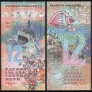 FAUNUS ISLAND - Billet de 12 DOLLARS - Requin - 2020