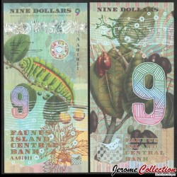 FAUNUS ISLAND - Billet de 9 DOLLARS - Chenille - 2020 0009