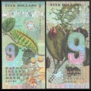 FAUNUS ISLAND - Billet de 9 DOLLARS - Chenille - 2020