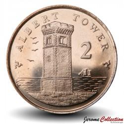 ILE DE MAN - PIECE de 2 Pence - Albert Tower - 2015 Km#1254