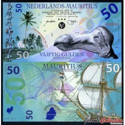 ILE MAURICE / NEDERLANDS-MAURITIUS - Billet de 50 Gulden - 2016