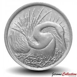 SINGAPOUR - PIECE de 5 Cents - Oiseau-serpent - 1976 Km#2