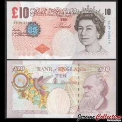 ROYAUME UNI - Billet de 10 Pounds - Charles Darwin - 2014 P389d