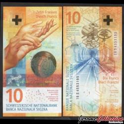 SUISSE - Billet de 10 Francs - 2016
