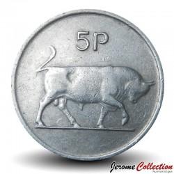 IRLANDE - PIECE de 5 Pence - Taureau - 1970 Km#22