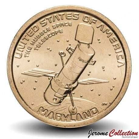 ETATS UNIS / USA - PIECE de 1 Dollar - Industrie et l'innovation - Le télescope Hubble - Maryland - P - 2020 Km#new