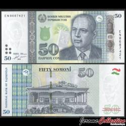 TADJIKISTAN - Billet de 50 Somoni - Bobojon Gafurov - 2018 P26c