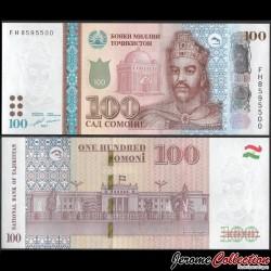 TADJIKISTAN - Billet de 100 Somoni - Ismaïl Ier - 2017 P27b