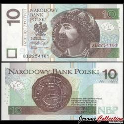 POLOGNE - Billet de 10 Złotych - Mieszko Ier de Pologne - 2016 P183b