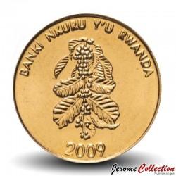 RWANDA - PIECE de 5 Francs - Plant de café - 2009 Km#33
