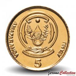 RWANDA - PIECE de 5 Francs - Plant de café - 2009