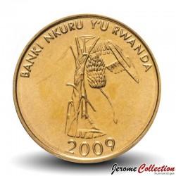 RWANDA - PIECE de 10 Francs - Plant de Banane - 2009 Km#34