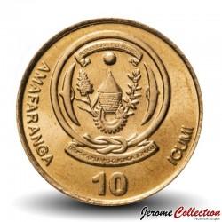 RWANDA - PIECE de 10 Francs - Plant de Banane - 2009