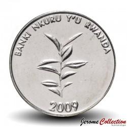 RWANDA - PIECE de 20 Francs - Plan de café - 2009 Km#35
