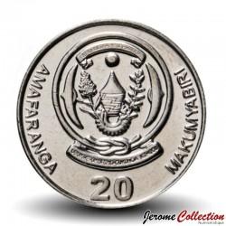RWANDA - PIECE de 20 Francs - Plan de café - 2009
