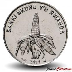 RWANDA - PIECE de 50 Francs - Épi de mais - 2011 Km#36