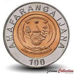 RWANDA - PIECE de 100 Francs - Armes nationales - Bimétal - 2007 Km#32