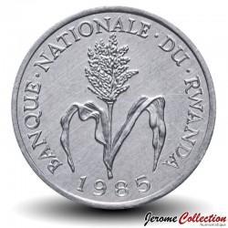 RWANDA - PIECE de 1 Franc - Épi de millet - 1985 Km#12