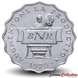 RWANDA - PIECE de 2 Francs - FAO - 1970 Km#10