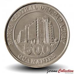 PARAGUAY - PIECE de 500 Guaranies - Général Bernardino Caballero - 2012 Km#195a