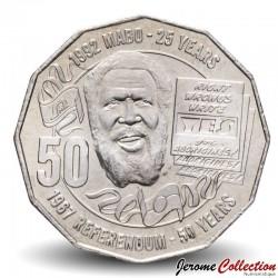 AUSTRALIE - PIECE de 50 Cents - Décision Mabo (Droits des autochtones ) - 2017 Km#new