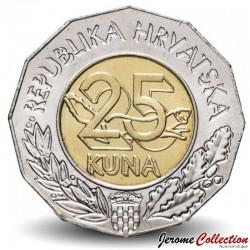 CROATIE - PIECE de 25 Kuna - Union européenne - 1999