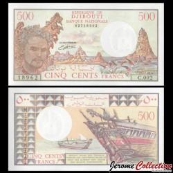 DJIBOUTI - Billet de 500 Francs - Lac Abbé - 1988 P36b