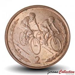 ILE DE MAN - PIECE de 2 Pence - Cyclistes - 1998 Km#901