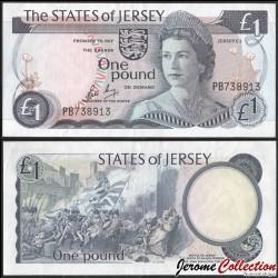 JERSEY - Billet de 1 Pound - Bataille de Jersey - 2000 P11b