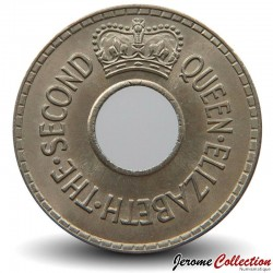 FIDJI - PIECE de 1/2 Penny - 1954