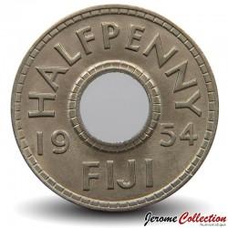 FIDJI - PIECE de 1/2 Penny - 1954 Km#20