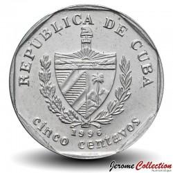 CUBA - PIECE de 5 CENTAVOS - Maison coloniale - 1996