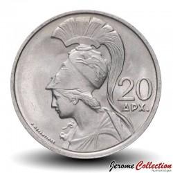 GRECE - PIECE de 20 Drachmes - Déesse Athéna - 1973 Km#112