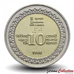 SRI LANKA - PIECE de 10 Roupies - Bimétal - Indépendance du Sri Lanka - 1998