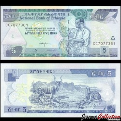 ETHIOPIE - Billet de 5 Birr - 2013 P47e