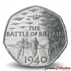 ROYAUME UNI - PIECE de 50 Pence - Bataille d'Angleterre - 2015 Km#1338