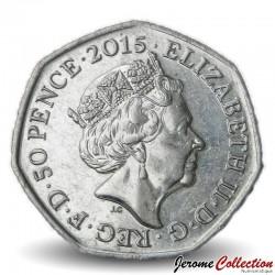 ROYAUME UNI - PIECE de 50 Pence - Bataille d'Angleterre - 2015