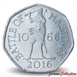 ROYAUME UNI - PIECE de 50 Cents - Bataille de Hastings - 2016 Sp#H32