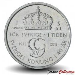 SUEDE - PIECE de 1 Krone - Règne du roi Charles XVI Gustave - 2013 Km#927