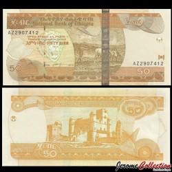 ETHIOPIE - Billet de 50 Birr - 2012 P51f