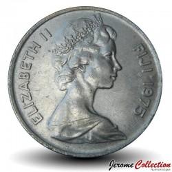 FIDJI - PIECE de 20 Cents - Dent de cachalot - 1975